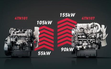 Yanmar motors 4TN101 and 4TN107
